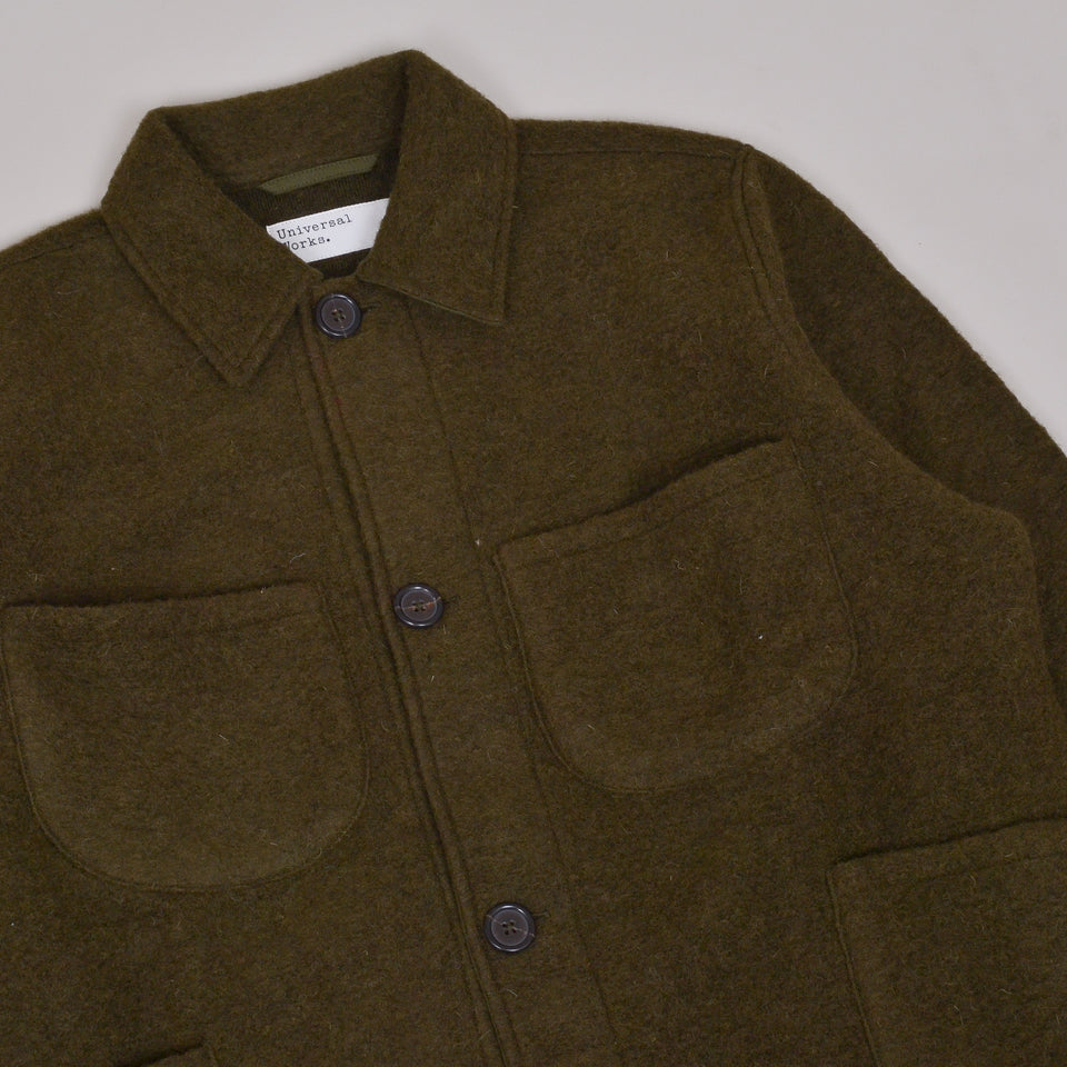 Universal Works Lumber Jacket Wool Fleece - Olive
