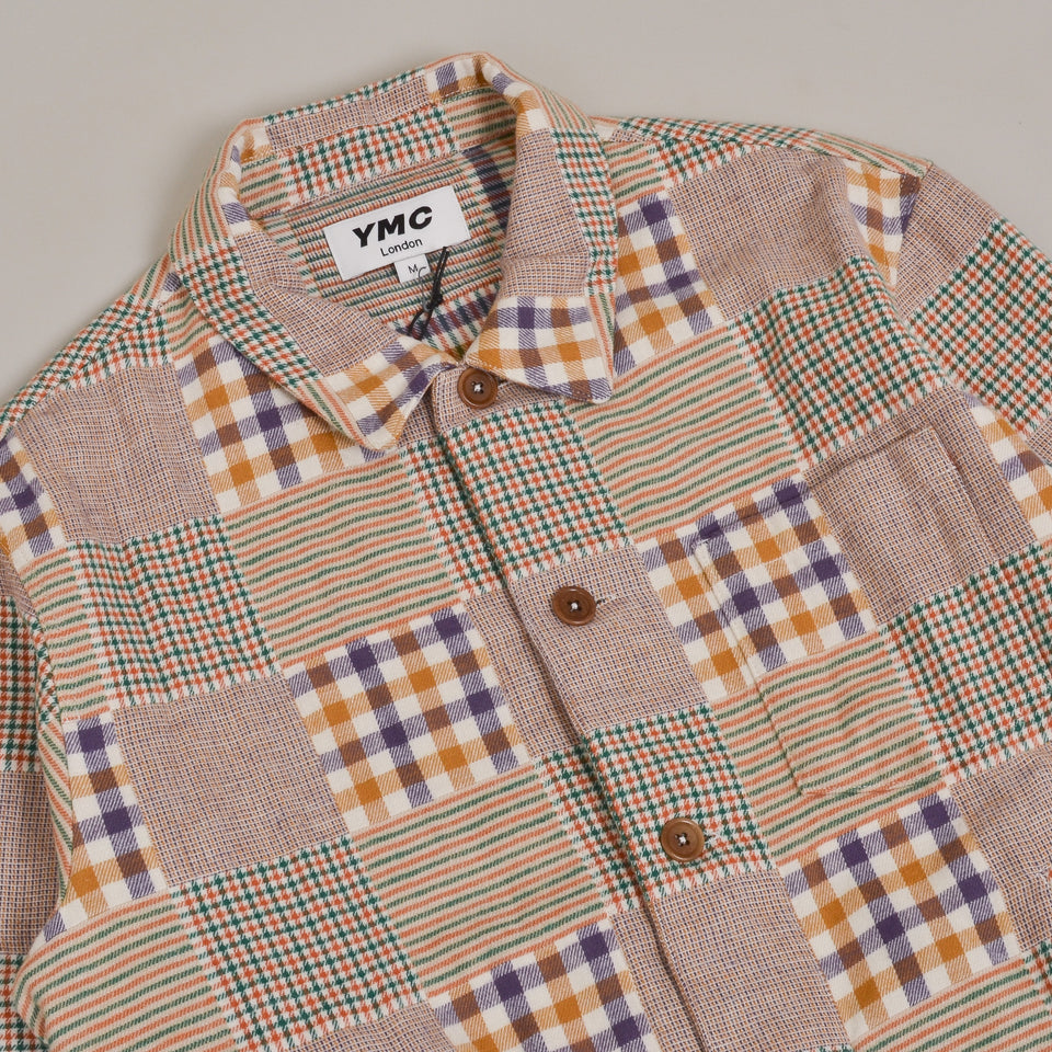 YMC Bowling Shirt Griffon Check Flannel - Multi