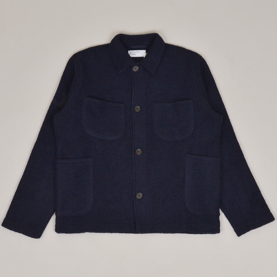 Universal Works Lumber Jacket Wool Fleece - Navy