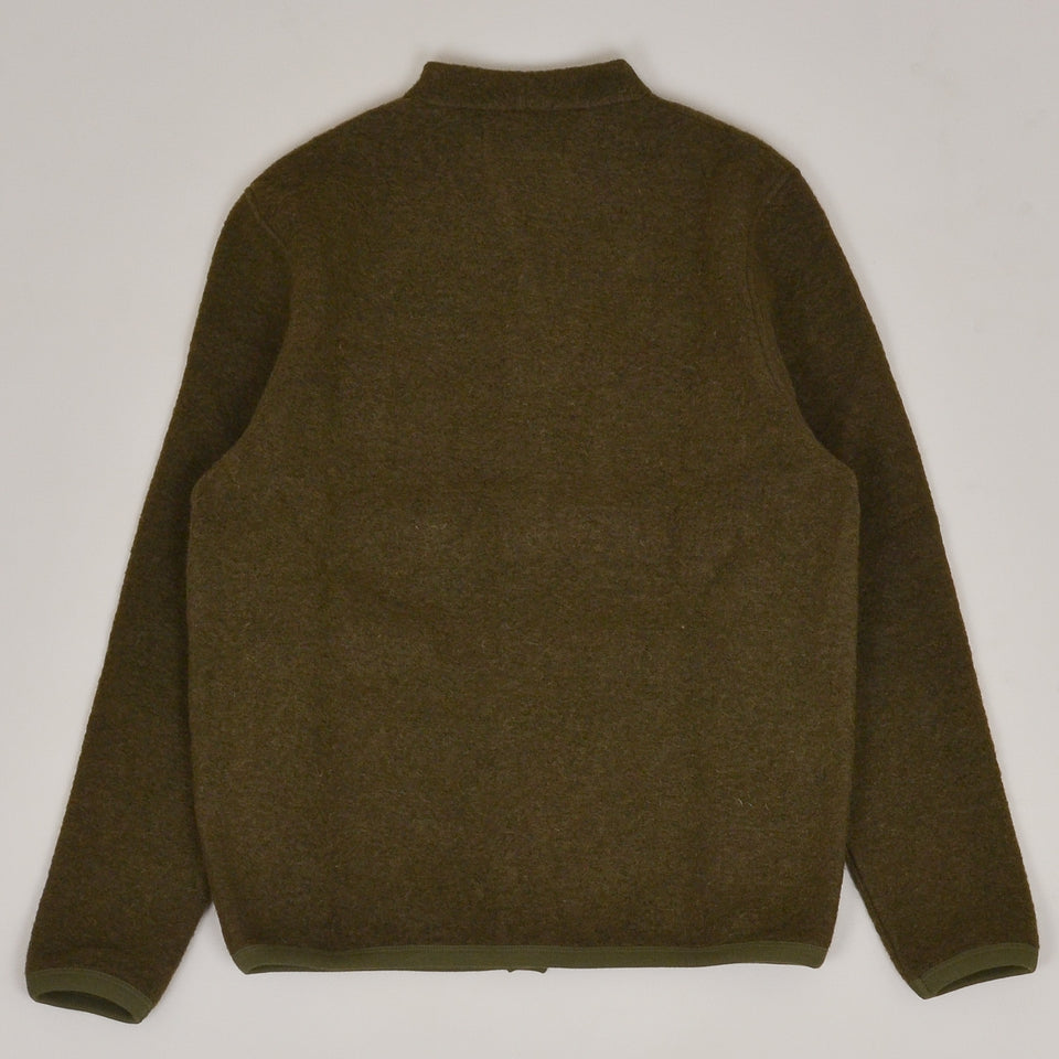 Universal Works Cardigan Wool Fleece - Olive