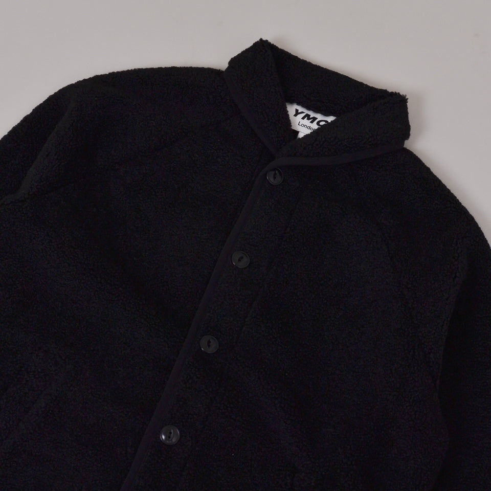 YMC Beach Poly Fleece Jacket - Black