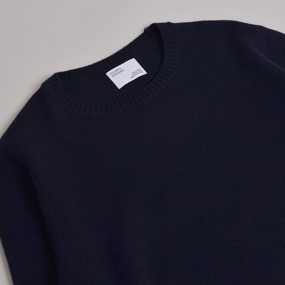 Colorful Standard Classic Merino Wool Crew - Navy Blue