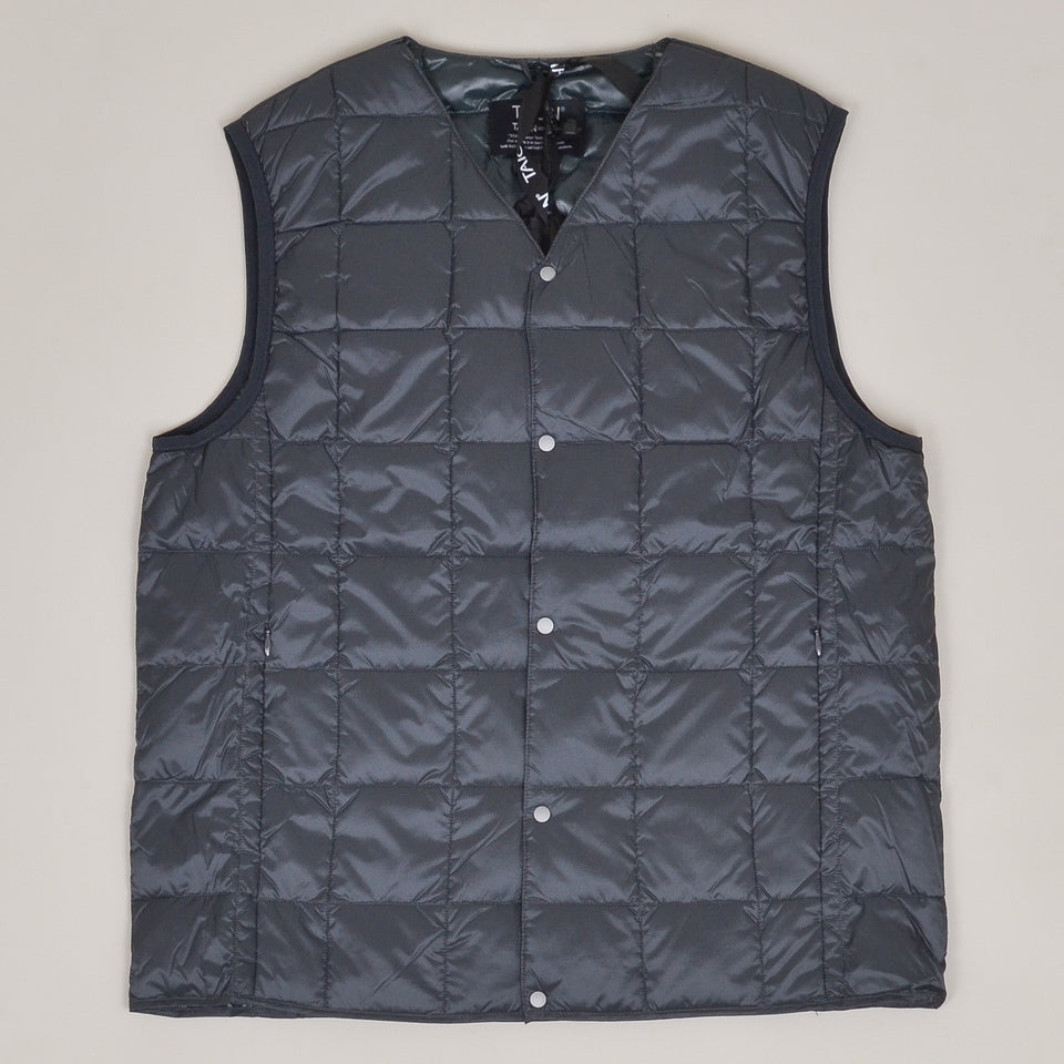 Taion - 001 V Neck Button Down Vest - Charcoal
