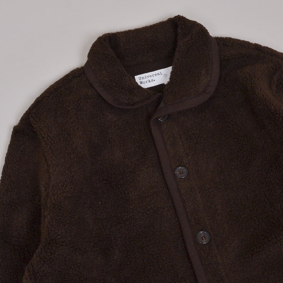 Universal Works Lancaster Jacket Mountain Fleece - Chocolate