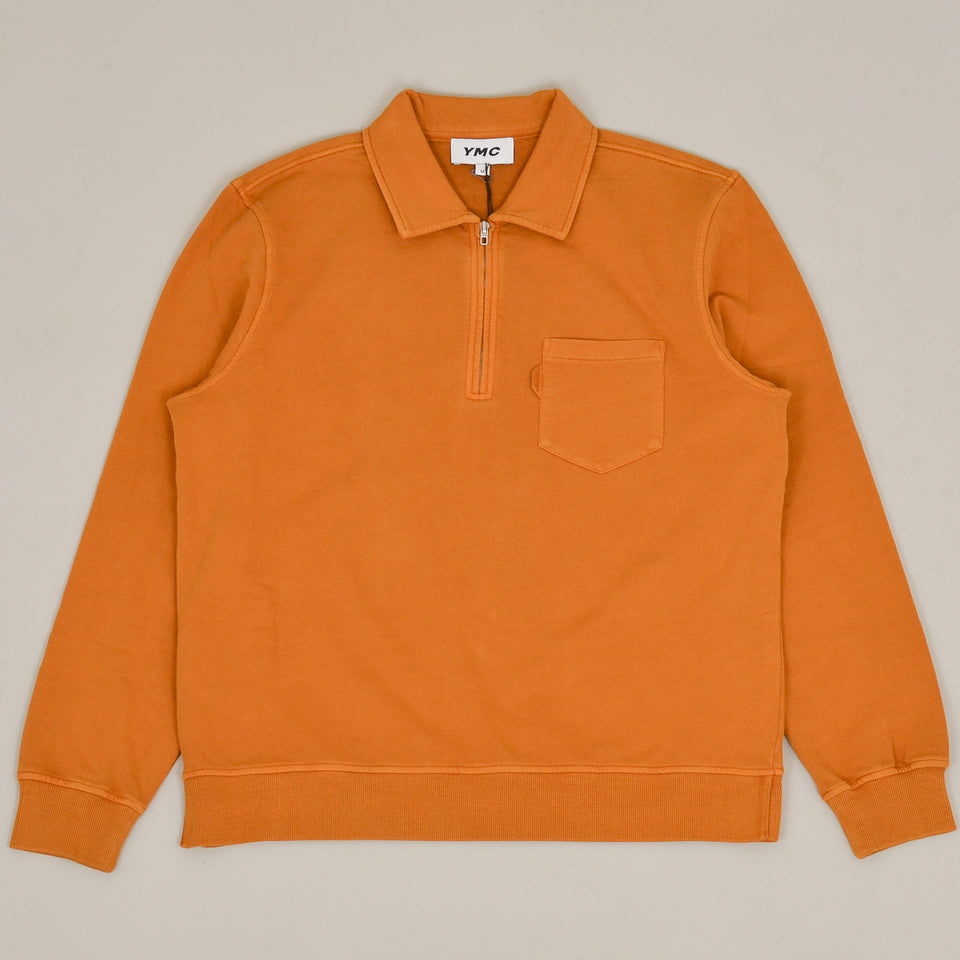 YMC Sugden Zip Sweatshirt - Yellow
