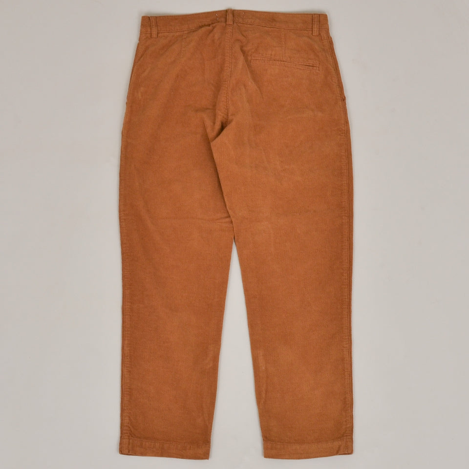 YMC Hand Me Down Organic Cotton Checker Cord Trousers - Brown