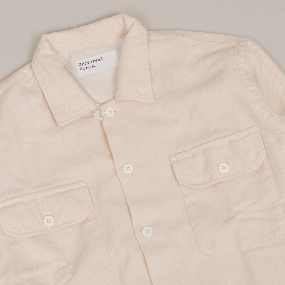 Universal Works Utility Shirt Alaska Cotton - Ecru