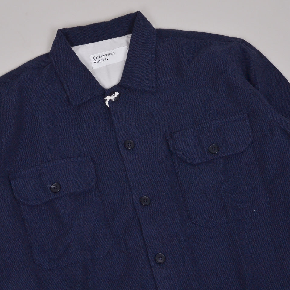 Universal Works Utility Shirt Alaska Cotton - Navy