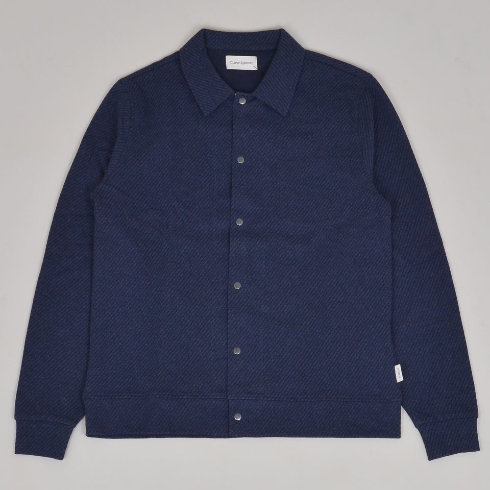 Oliver Spencer Rundell Jersey Cardigan - Freston Navy