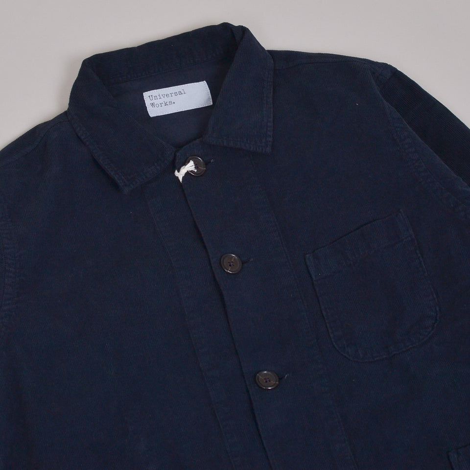 Universal Works Bakers Overshirt Fine Cord - Navy