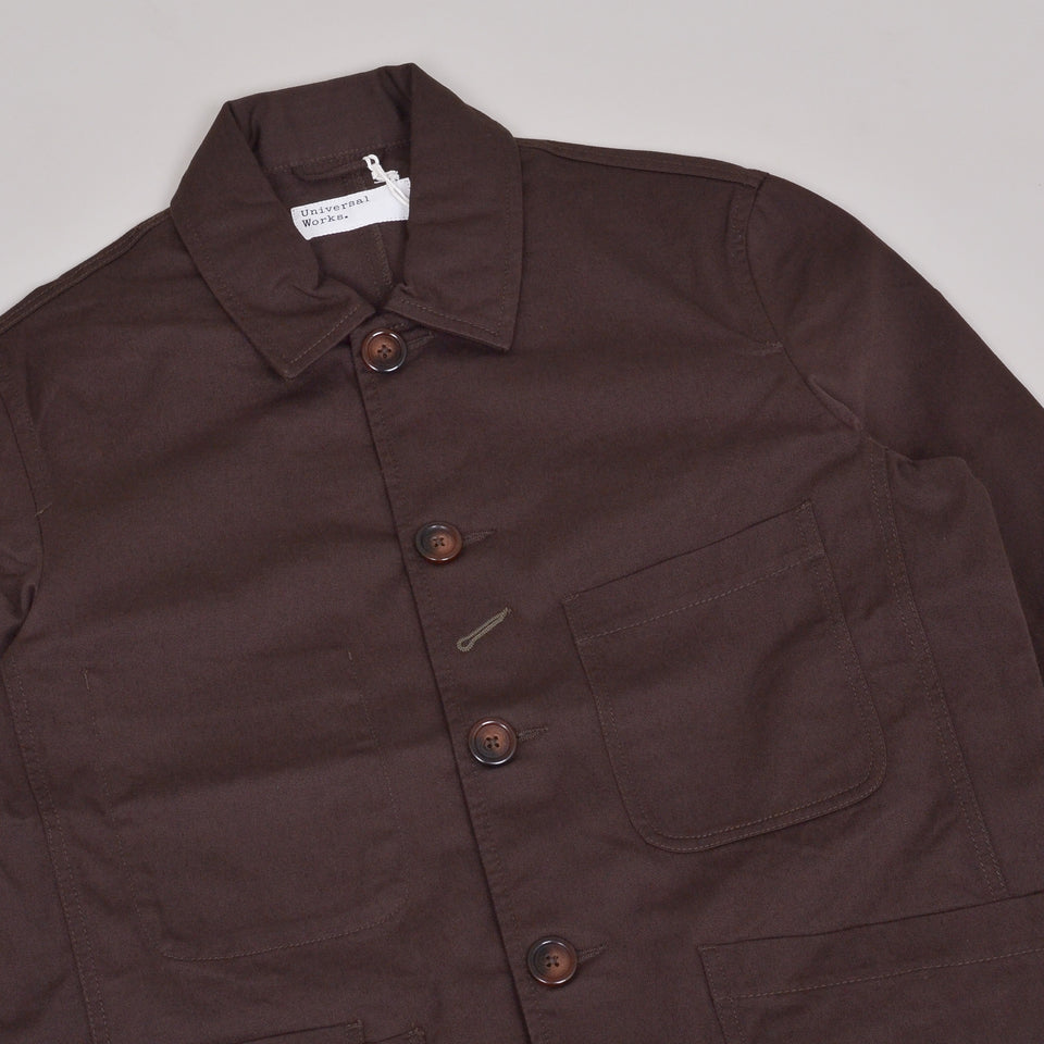 Universal Works Bakers Jacket Twill - Chocolate