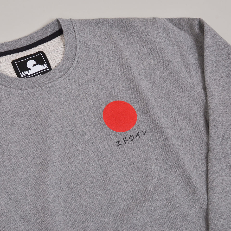 Edwin Japanese Sun Sweat - Mid Grey Marl