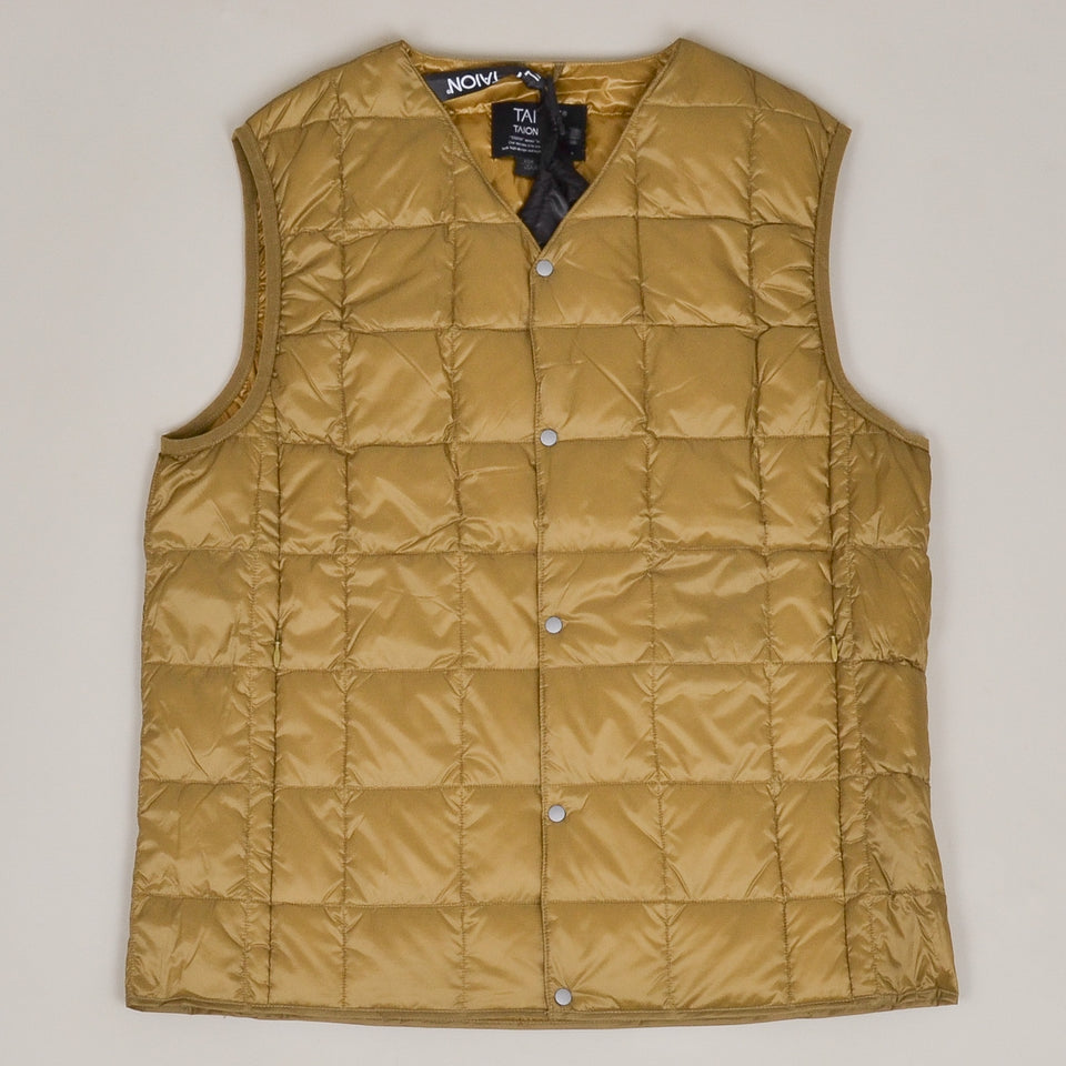 Taion - 001 V Neck Button Down Vest - Beige