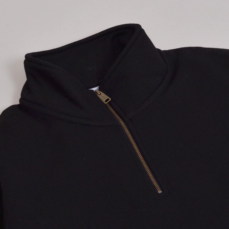 Carhartt WIP Chase Neck Zip Sweat - Black / Gold