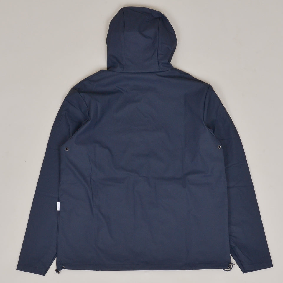 Rains Short Hooded Coat - Blue