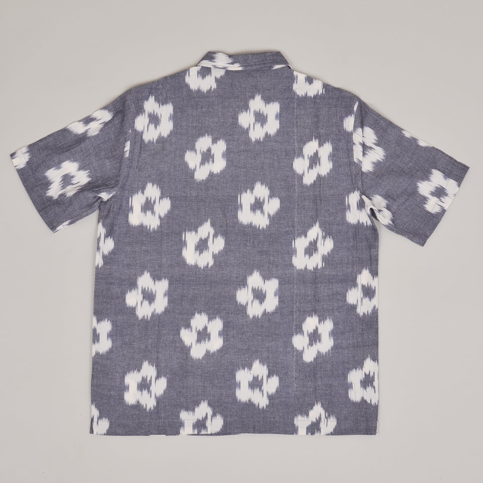 Universal Works Road Shirt IKAT - Flower Grey