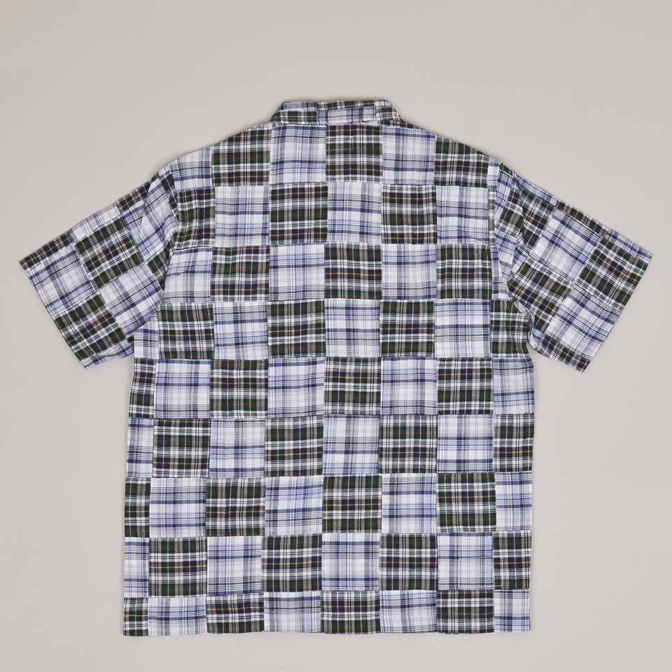 Universal Works Road Shirt Patchwork Madras Blue