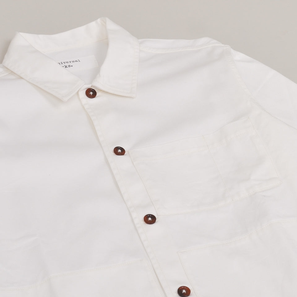Universal Works Uniform Shirt Twill - Ecru