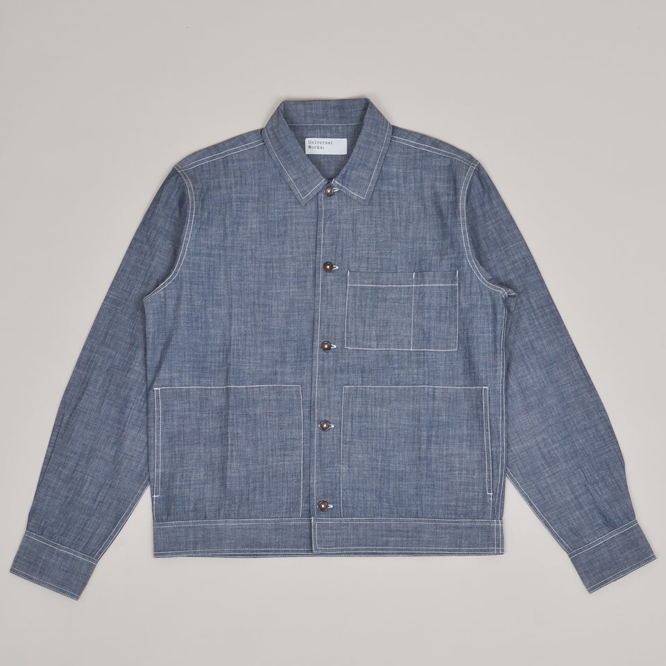 Universal Works Uniform Shirt - Chambray Indigo