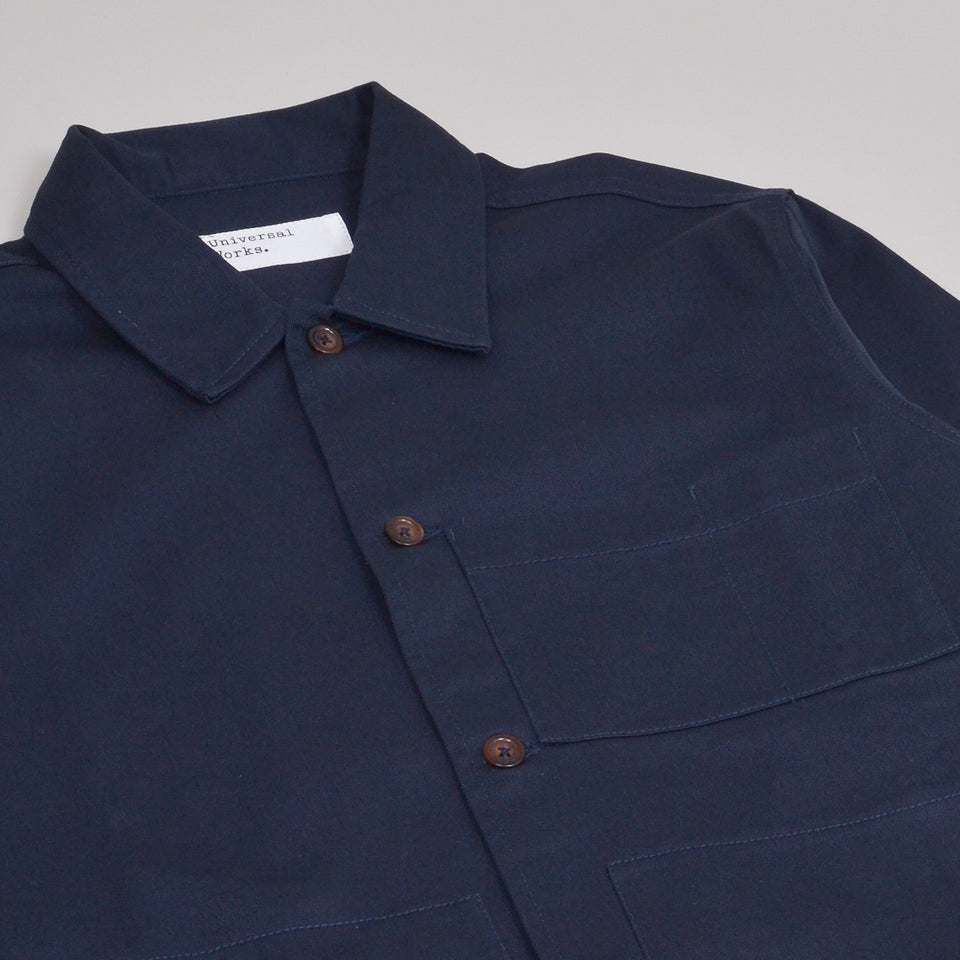 Universal Works Uniform Shirt Twill - Navy