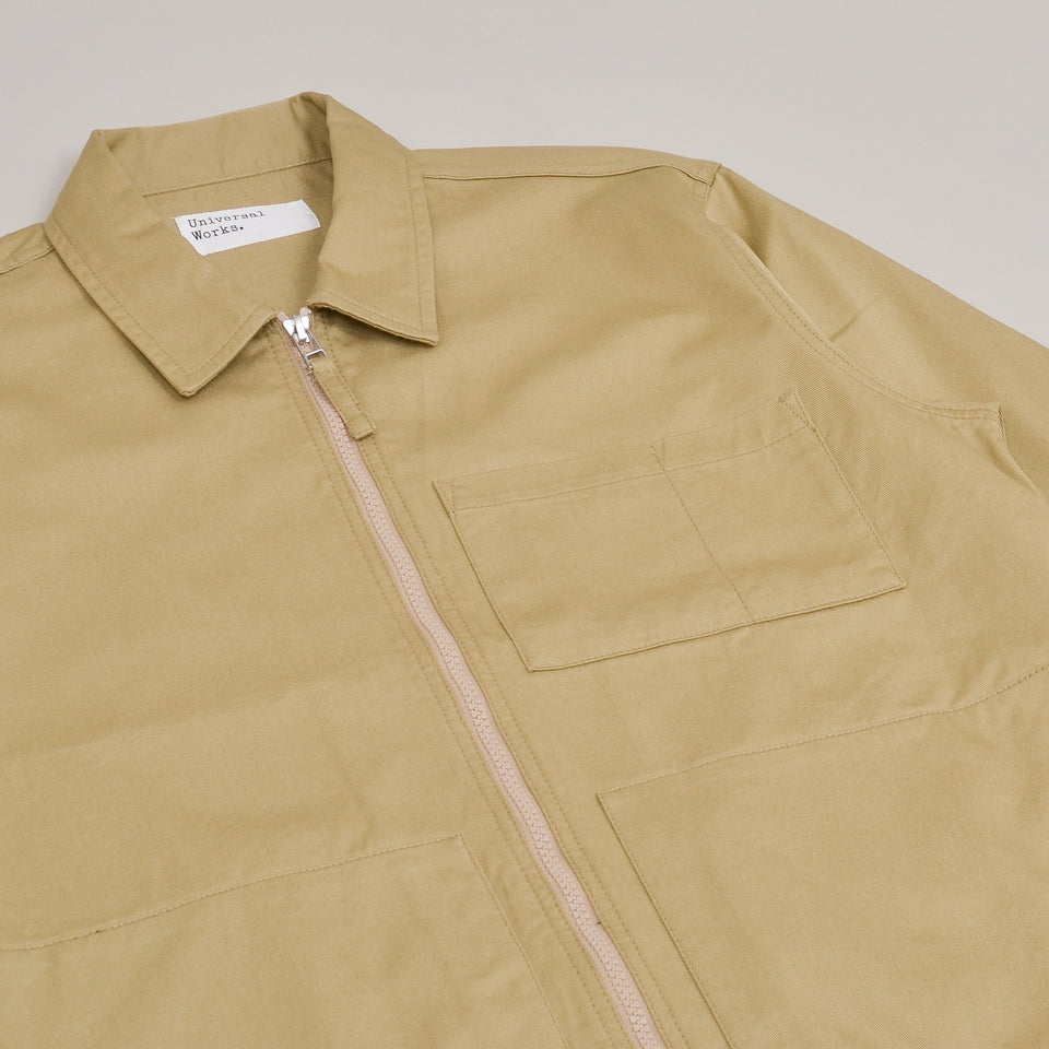 Universal Works Zip Uniform Jacket Twill - Sand