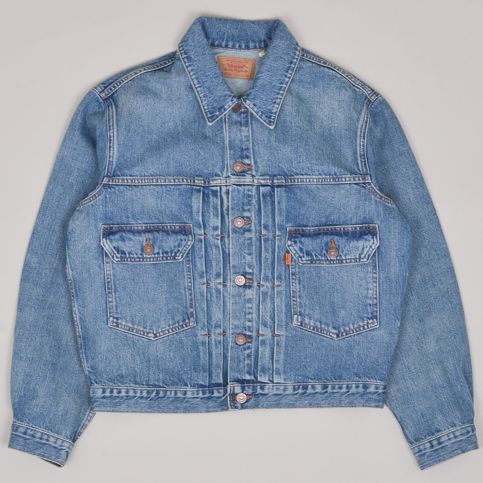 Levi's Vintage Clothing LVC Type II Orange Tab Denim Jacket - Washed