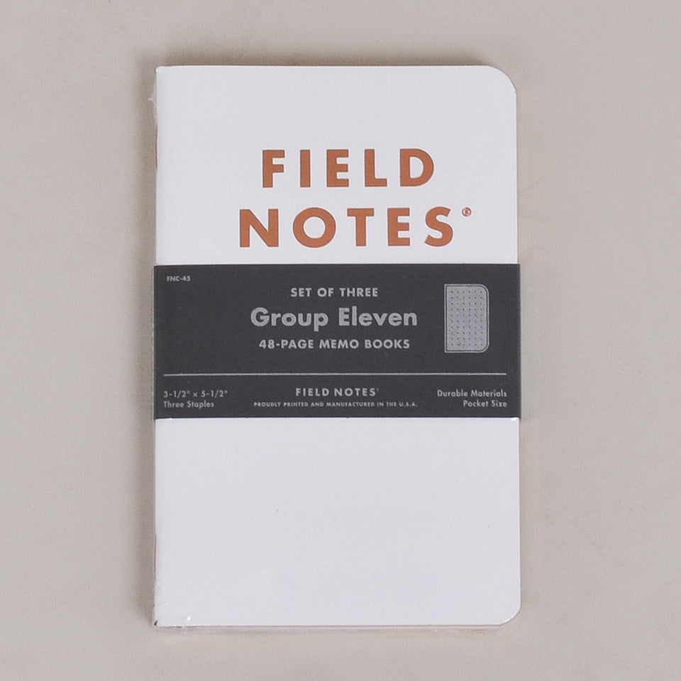 Field Notes Group Eleven 3-Pack - Dot Graph