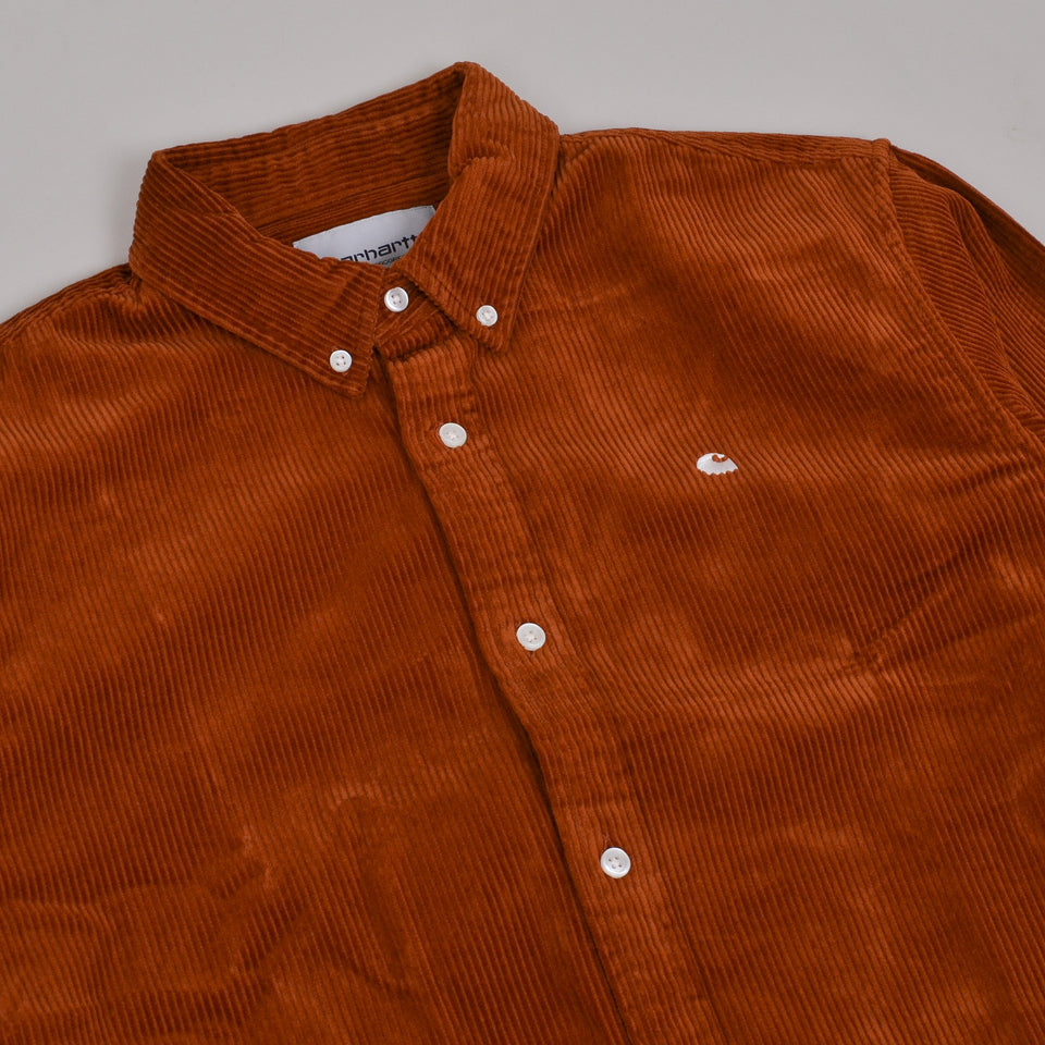 Carhartt WIP Madison Cord Shirt - Brandy/Wax