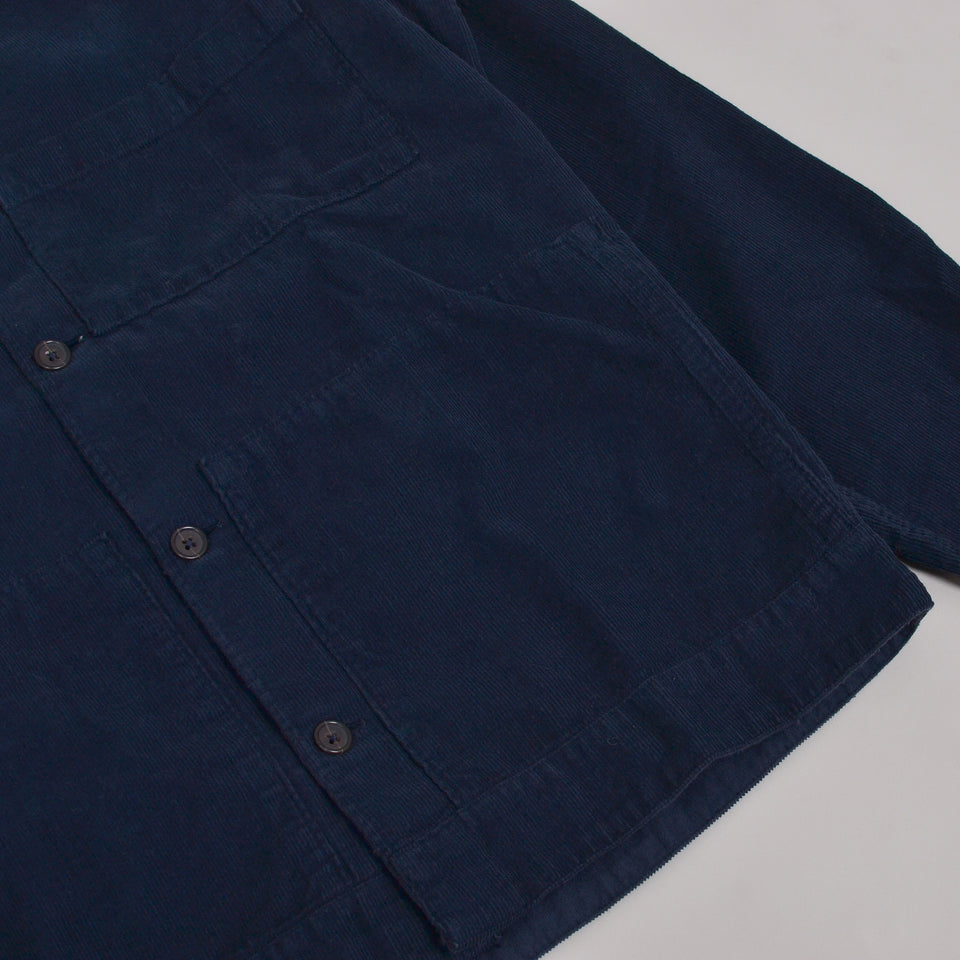 Universal Works Uniform Shirt Fine Cord - Navy