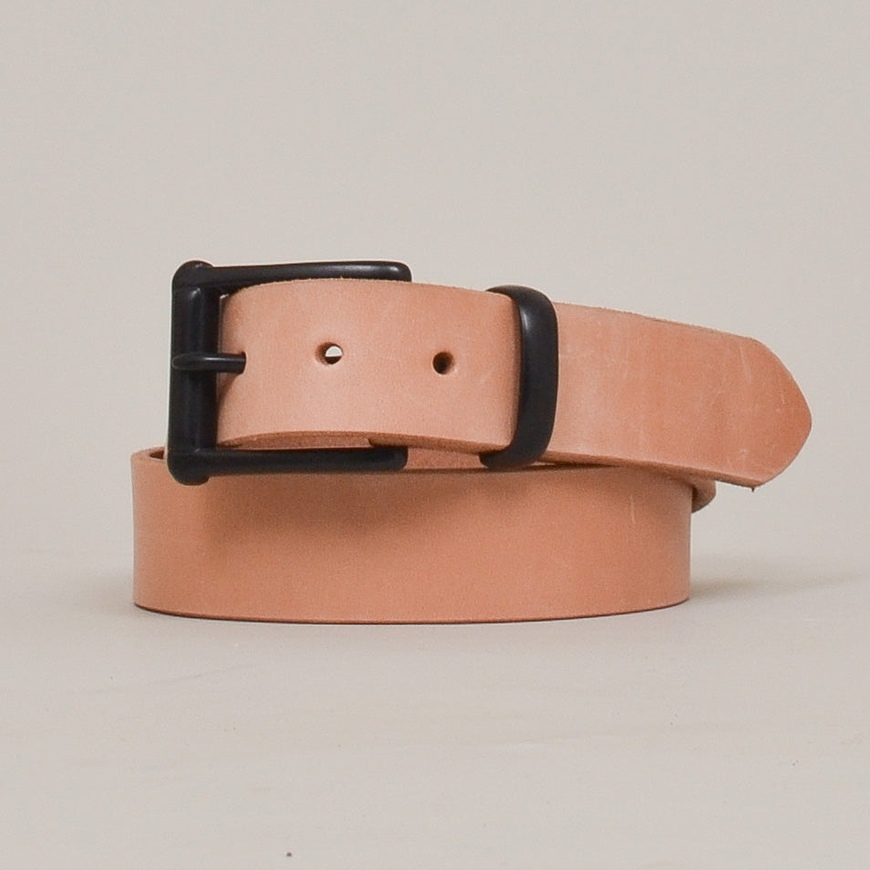 Barnes & Moore Garrison English Leather Belt Natural/Black