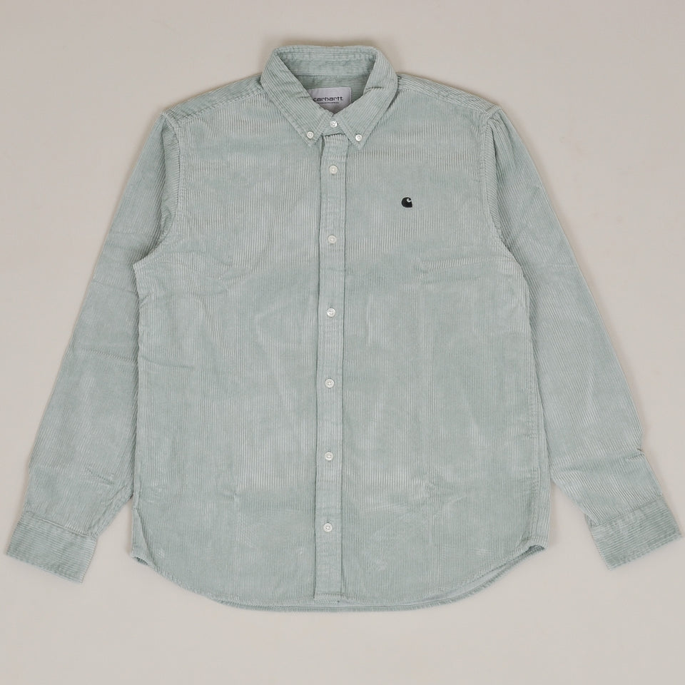 Carhartt WIP Madison Cord Shirt - Frosted Green/Black