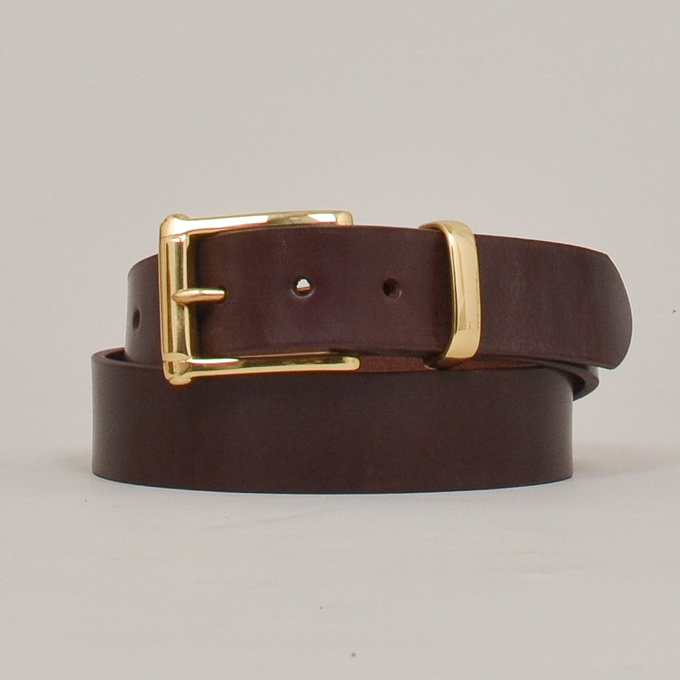 Barnes & Moore Garrison English Leather Belt Deep Honey/Brass