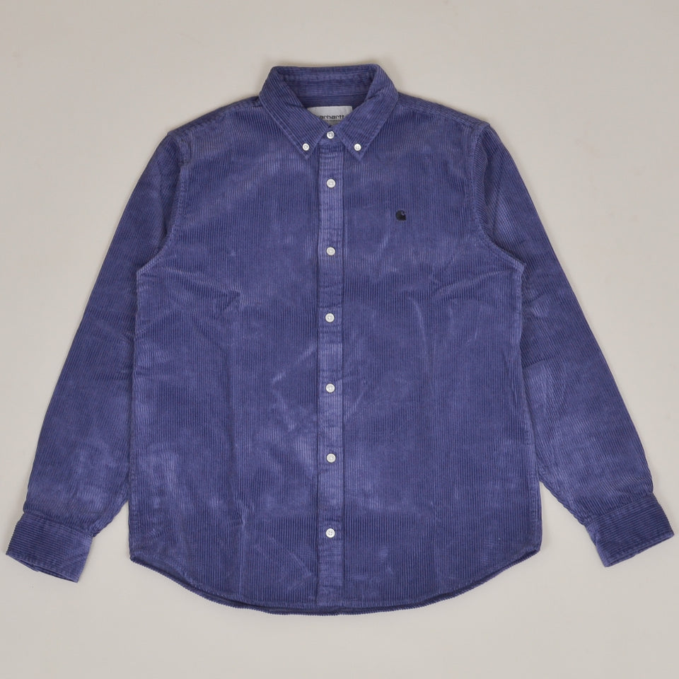 Carhartt WIP Madison Cord Shirt - Viola/Black