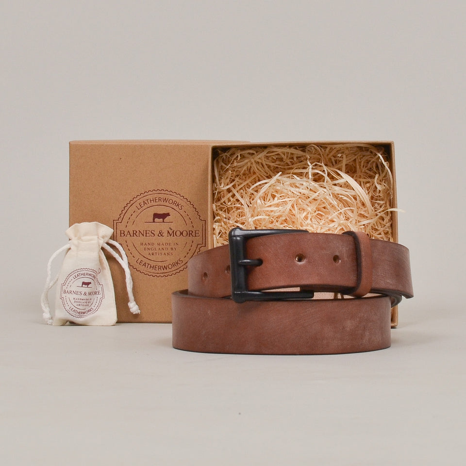 Barnes & Moore Garrison Belt - Oak Bark/Black