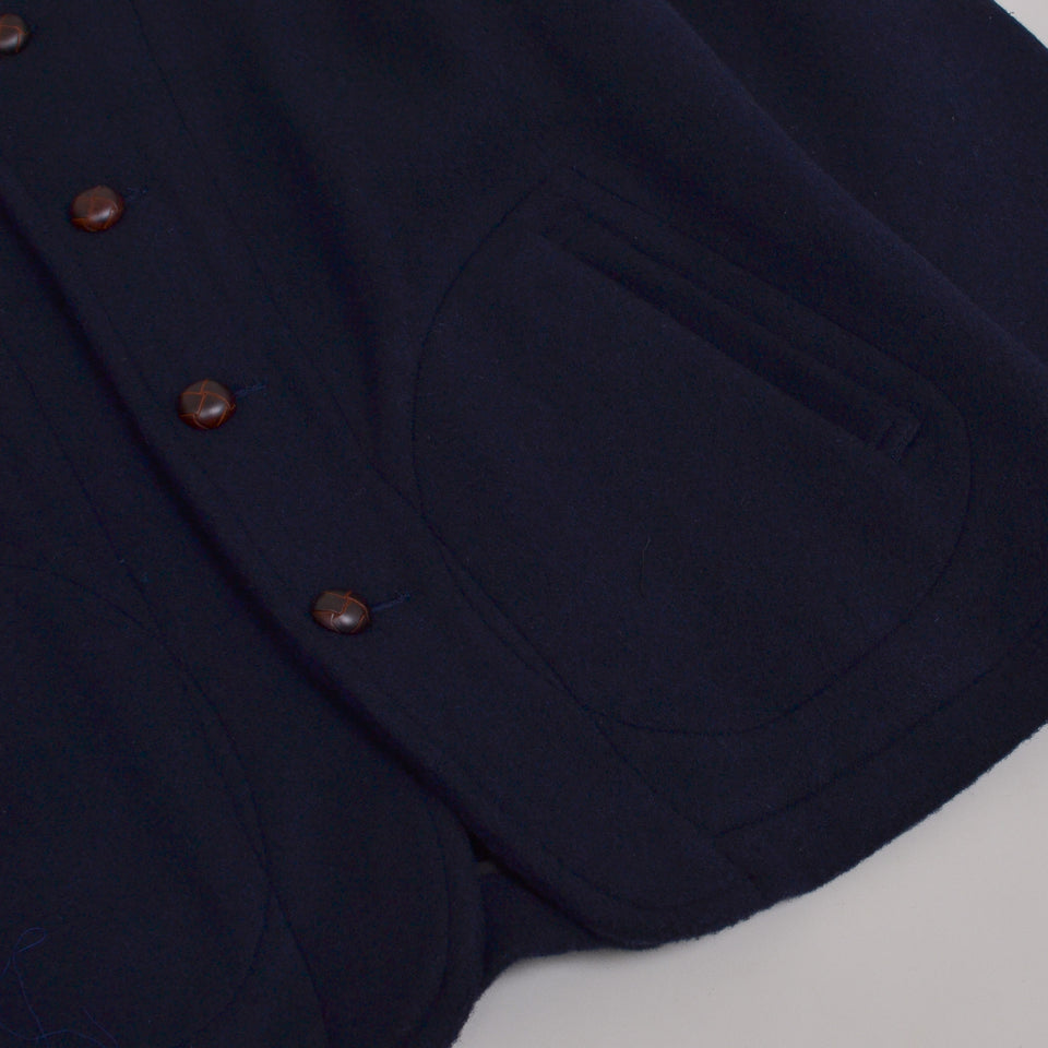 Danton Wool Coat JD-8237 - Navy