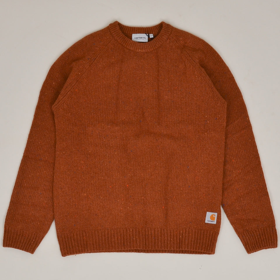 Carhartt WIP Anglistic Sweater  - Brandy Heat