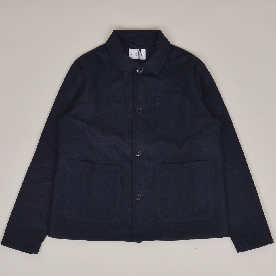 Albam Wool Work Jacket - Navy Melange