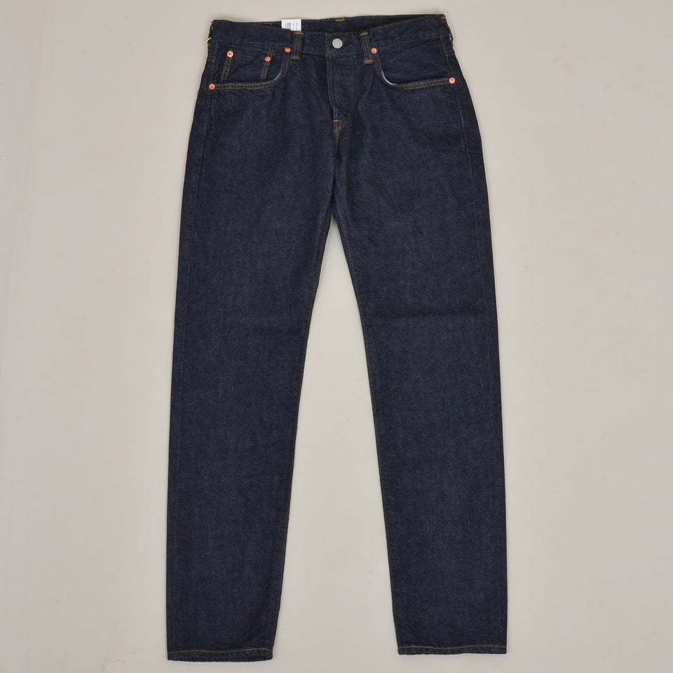 Edwin Made in Japan Regular Tapered Kaihara Indigo Blue x White Selvage 11oz - Blue Rinsed