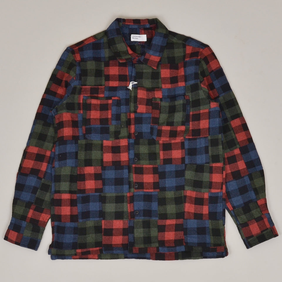 Universal Works Garage Shirt II Brushed Patchwork - Multi