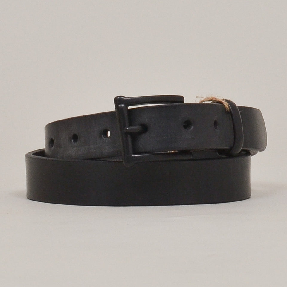 Barnes & Moore Slim English Leather Belt Black/Black