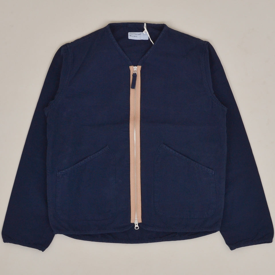 Universal Works Military Liner Jacket Canvas  - Navy