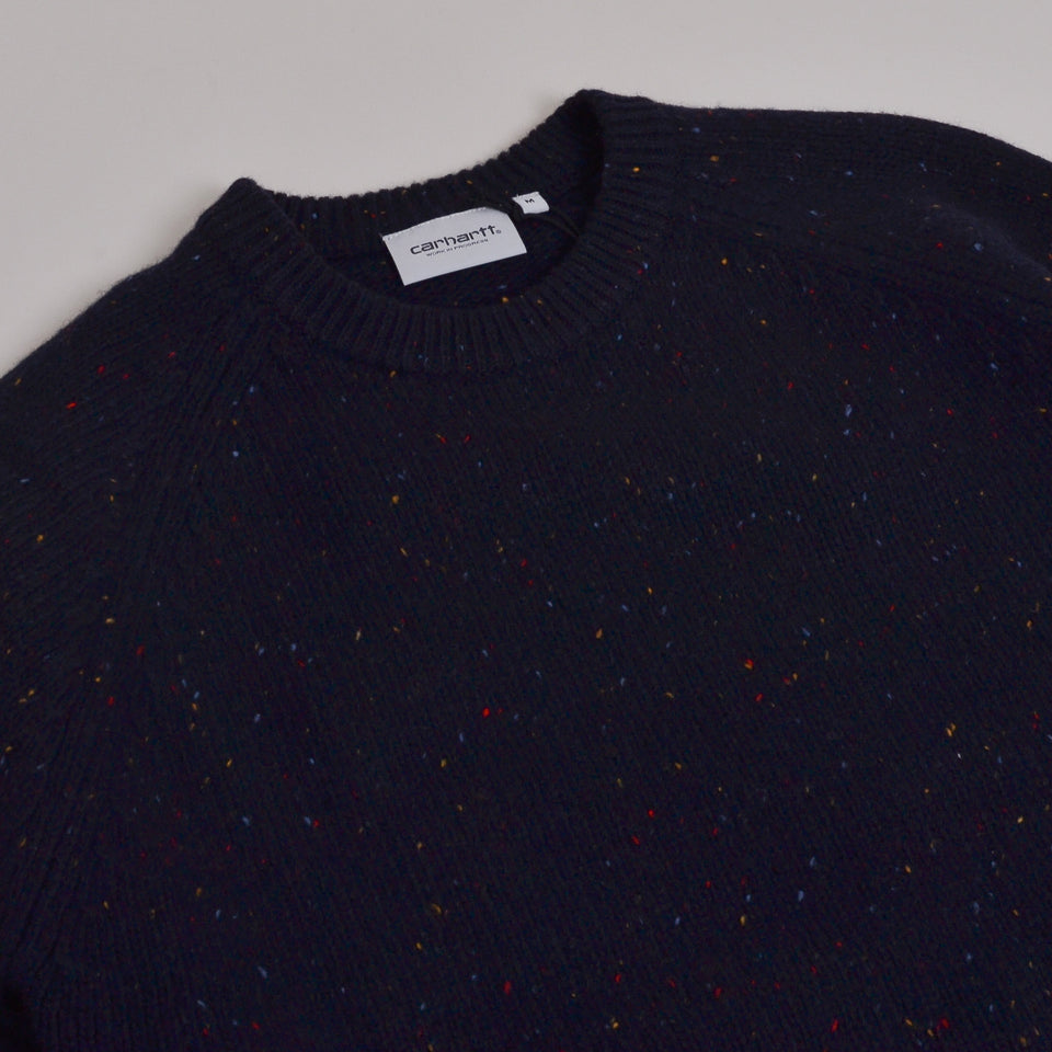 Carhartt WIP Anglistic Sweater  - Dark Navy
