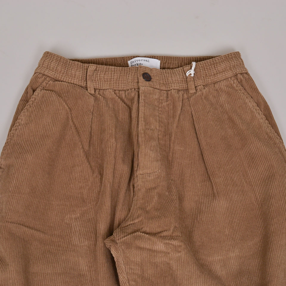 Universal Works Pleated Track Pant Cord - Taupe