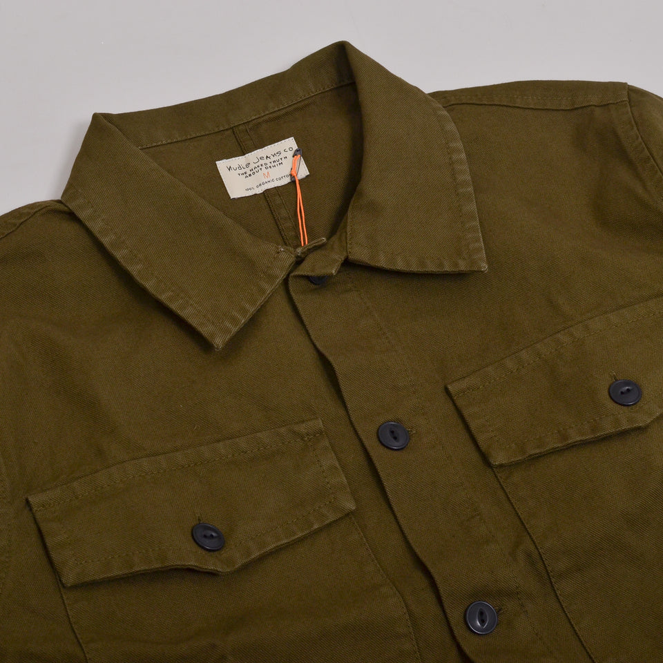 Nudie Jeans Colin Canvas Overshirt - Army