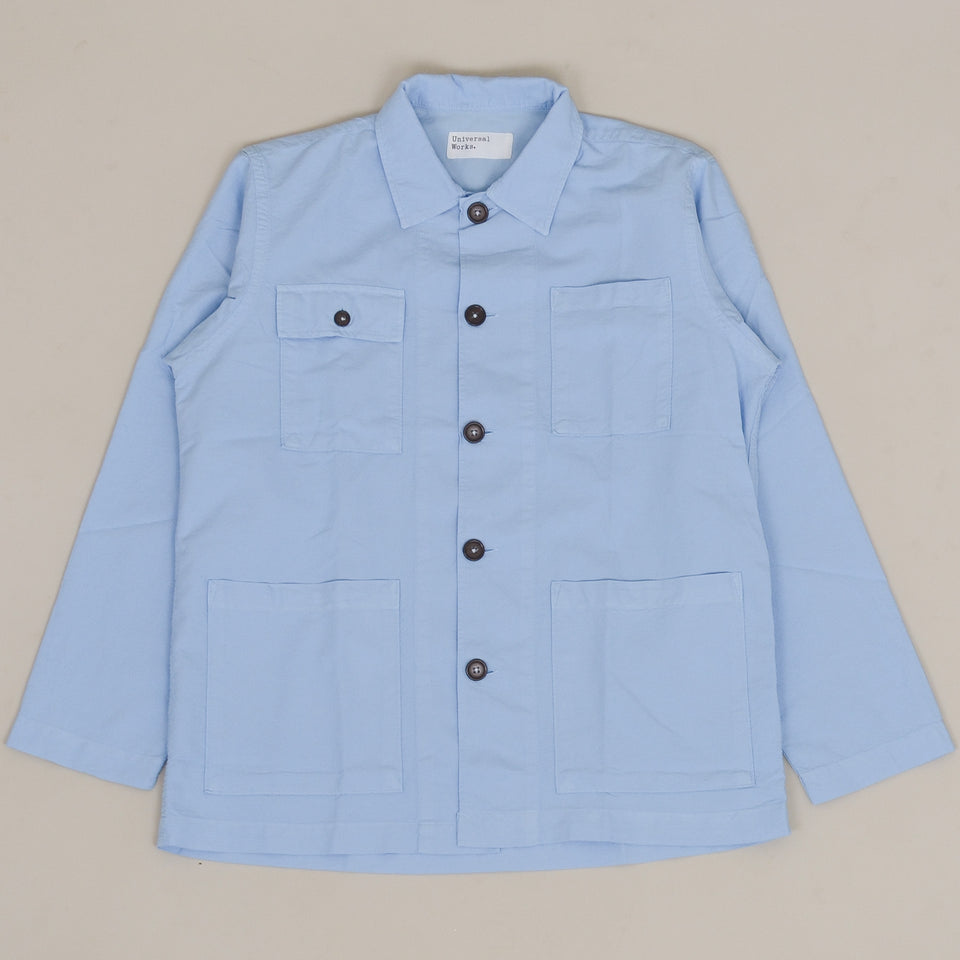 Universal Works Dockside Overshirt Oxford - Sky Blue