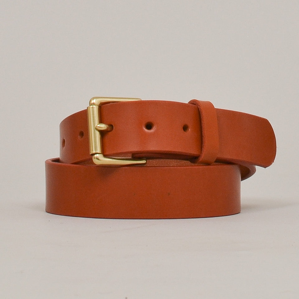 Barnes & Moore Roller Belt - Harness Tan/Brass