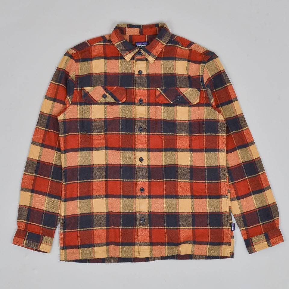 Patagonia Fjord Flannel Shirt - Burnished Red