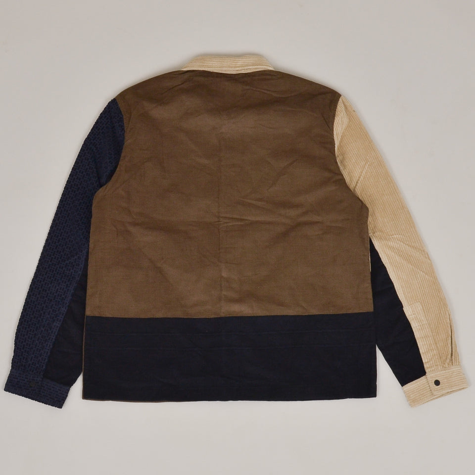Folk Fracture Jacket - Navy Tobacco Mix