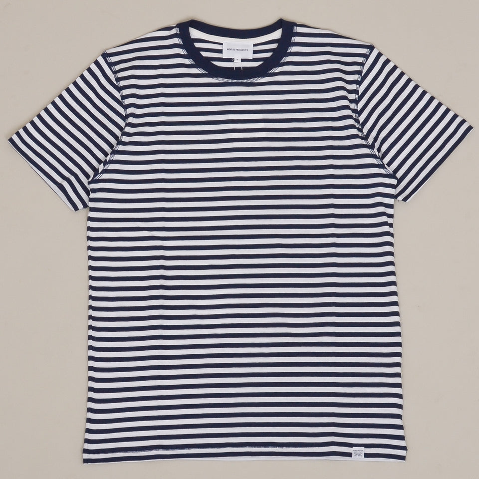 Norse Projects Niels Classic Stripe T-Shirt - Navy/White