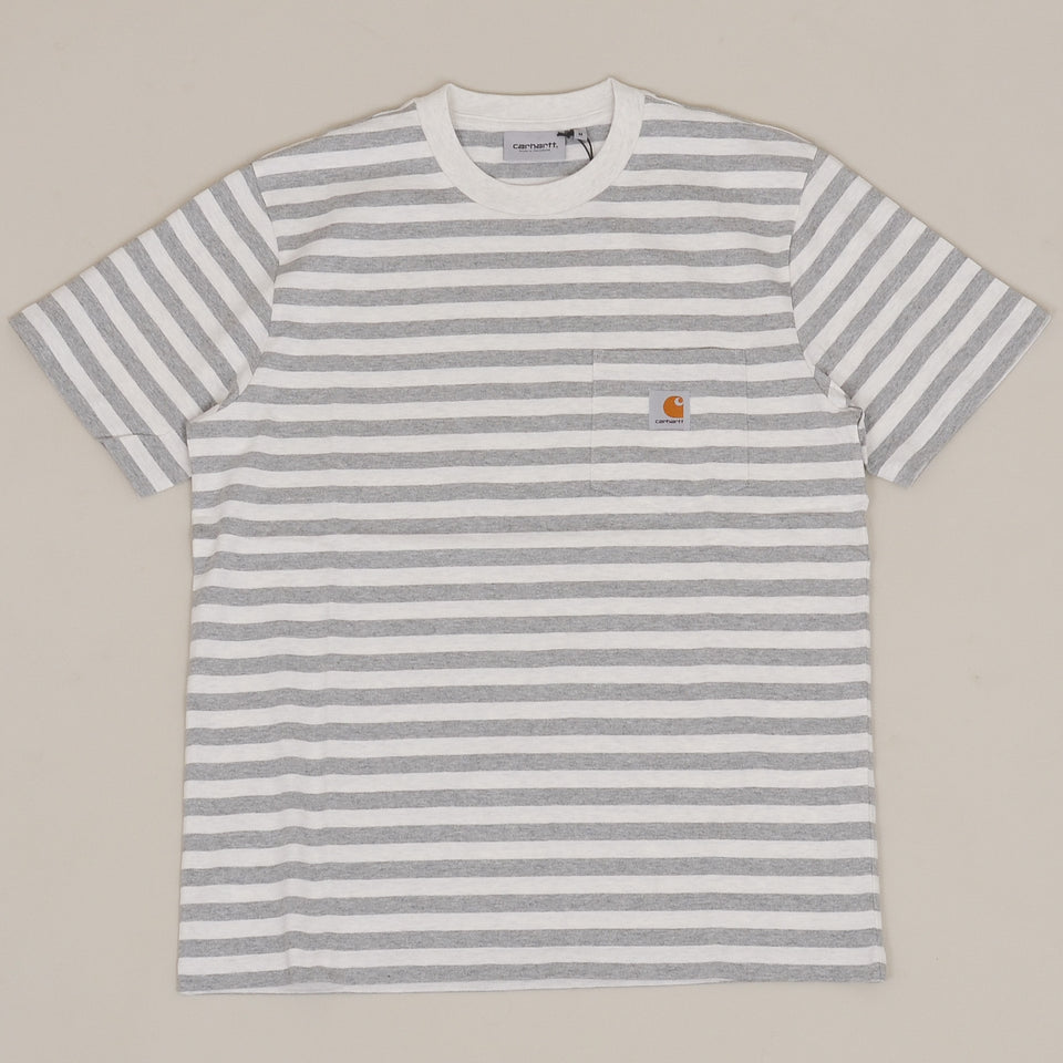 Carhartt WIP S/S Scotty Pocket T-Shirt - White Heather / Grey Heather